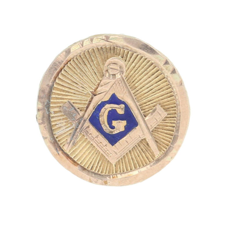 Vintage Blue Lodge Lapel Pin - 10k Gold & Gold Filled Master Mason