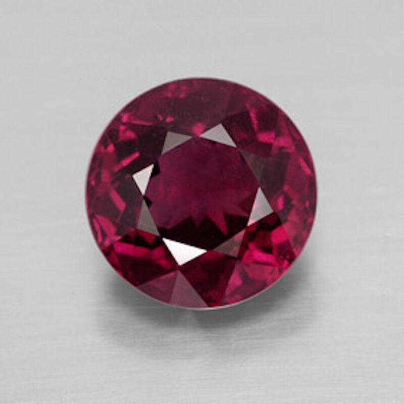 Genuine Natural Rhodolite Garnet Round Faceted AAA Loose Gemstones (1.25mm-8mm)