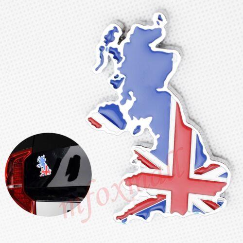 Chrome Car Parts Trim 3D Map UK England Style Emblem Badge Symbol Decal Sticker