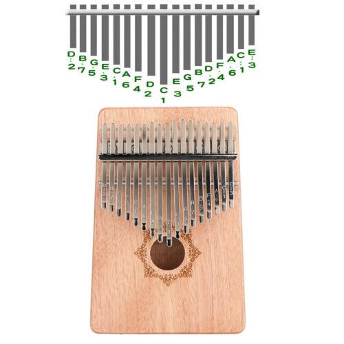 Kalimba 17 Keys Thumb Piano Mahogany Portable Mbira Finger Harp Music Instrument
