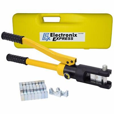 16 Ton Hydraulic Crimper With Crimping 10 Dies For Electrical Wire Sleeves L...