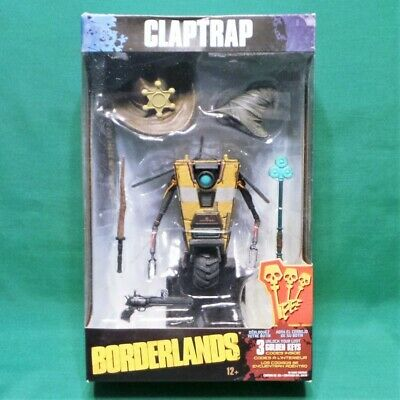 Box Set Mcfarlane Toys - Borderlands Claptrap Deluxe Action Figure Box Set w/ Golden Keys McFarlane Toys