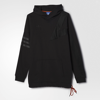 Adidas Originals Bball Hoodie - Black - M