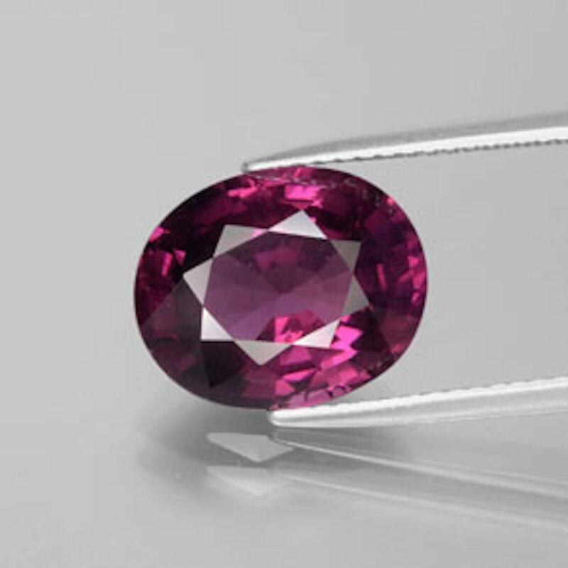 Genuine Natural Rhodolite Garnet Oval Faceted AAA (4x3mm-12x10mm)Loose Gemstones