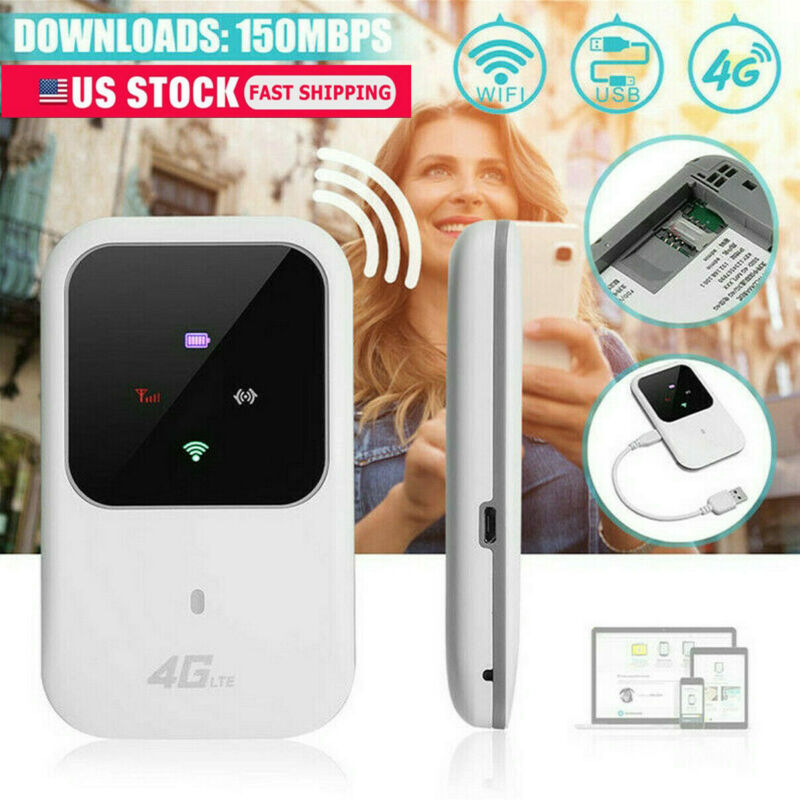 US Wireless Unlocked 4G-Lte Mobile Broadband Wifi Routes Portable Modem Hotspots