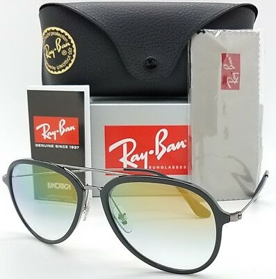 NEW Rayban Aviator sunglasses RB4298 6333Y0 Black Gold Gradient AUTHENTIC 4298