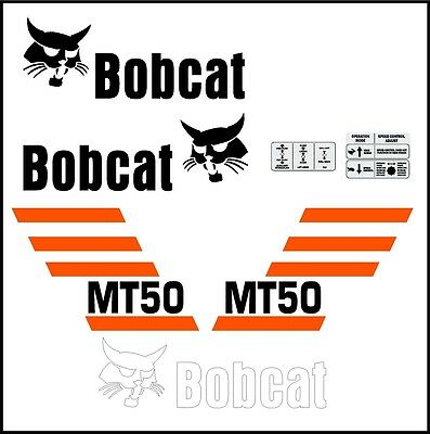 Mt50 Mt 50 New Decal Kit Sticker Set Mini Skid Loader Skid Steer Fits Bobcat