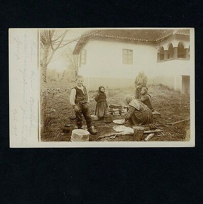 Mazedonien FRAUEN BACKEN BROT / BREAD WOMEN BAKING Macedonia * Foto-AK 1916 WW I