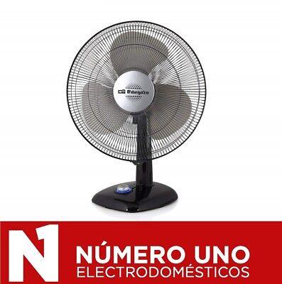 Ventilador de Sobremesa Orbegozo TF 0144, Negro, 50 W