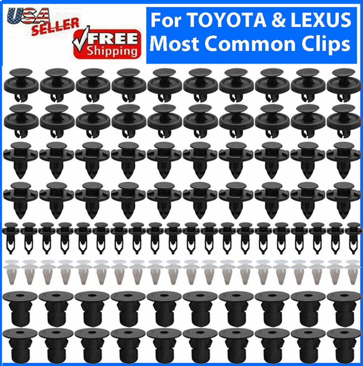 100x TOYOTA & LEXUS Trim Panel Clips Bumper Fender Push Pin Rivet 7 8 9mm Engine Car & Truck Parts