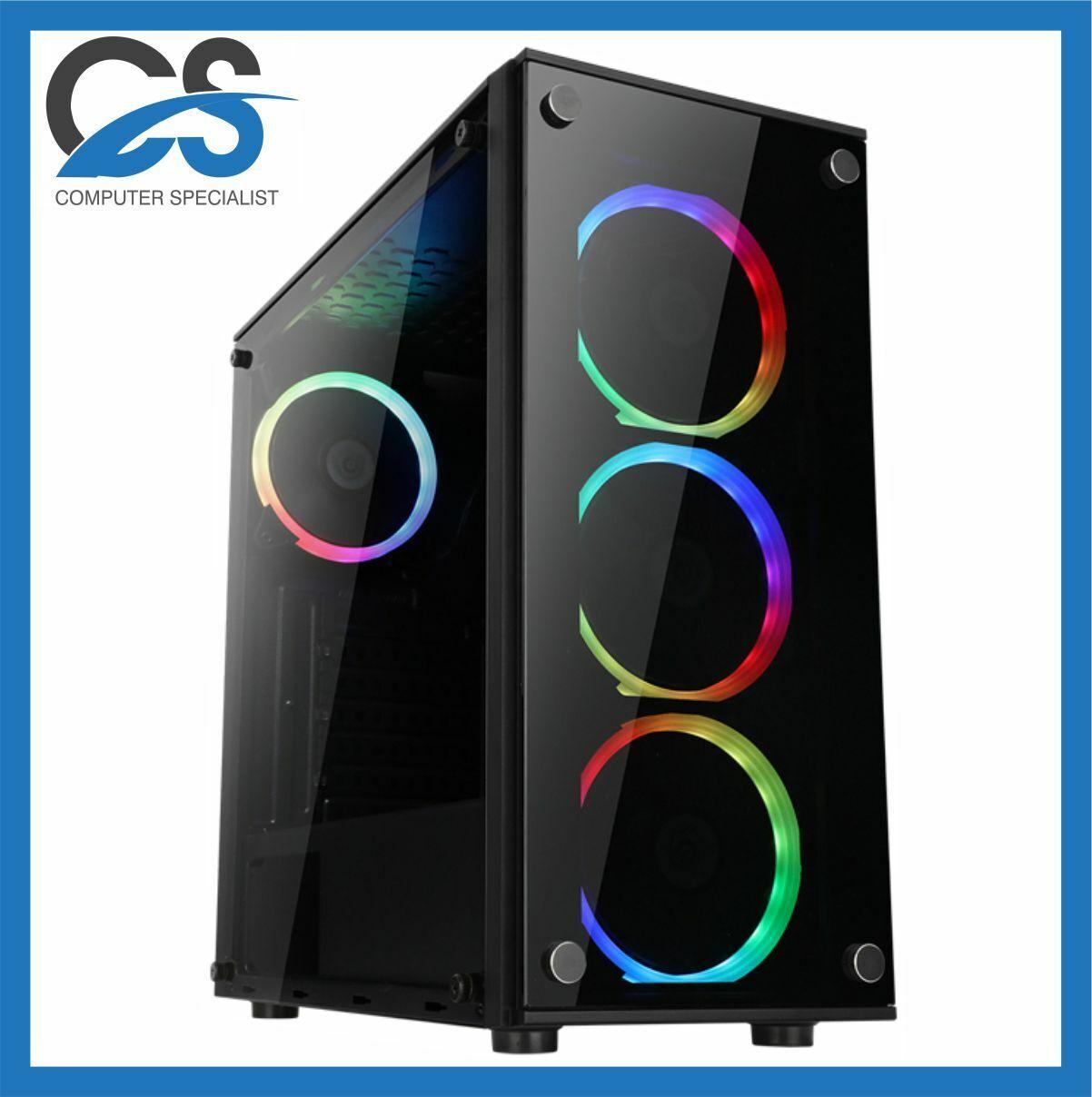Gaming PC Computer Intel Core i7 11700 2TB HDD 480GB SSD 16GB RAM 6GB GTX 1660