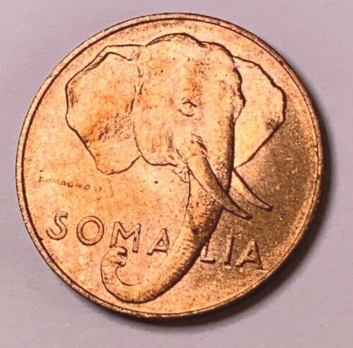 1024    1950 SOMALIA  Italy rare  coin 1 cent ELEPHANT UNC