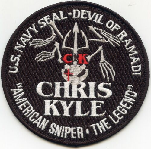 US NAVY SEAL CHRIS KYLE AMERICAN SNIPER THE LEGEND TEXAS MILITARY police PATCH