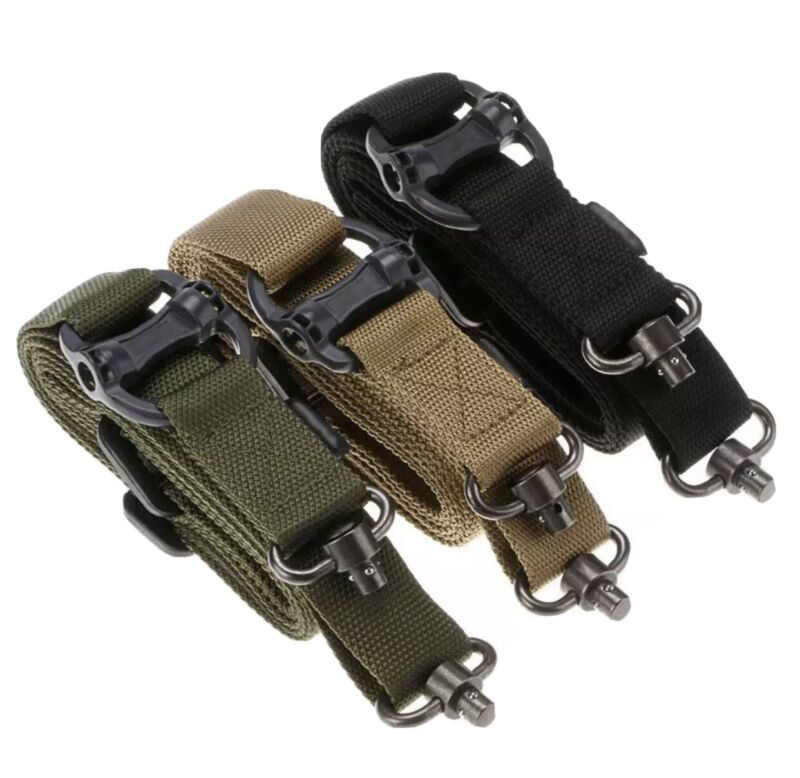 Tactical MS4 QD 2 Single & Two Point Adjustable Multi Mission Rifle Sling Swivel