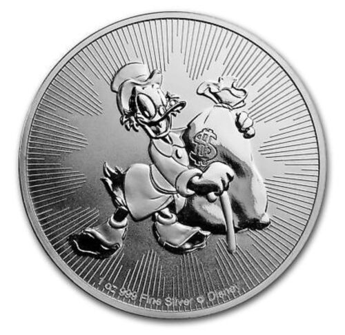 2018 1 oz New Zealand Silver Niue $2 Disney Scrooge McDuck (BU)