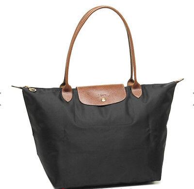 Brand New Longchamp Le Pliage Large 1899 Nylon Tote Bag - Black Tote Bag