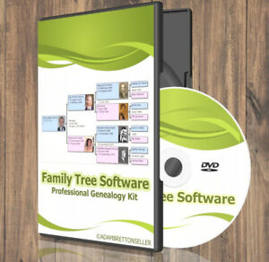 Family Tree & Genealogy Software Suite - ( Creator Generator Maker History ) CD