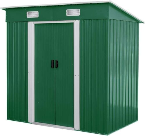 4 x 6 Ft Outdoor Storage Shed Lockable Organizer for Garden Backyard Tools