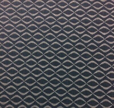 Ballard Designs Infinity Tide Sunbrella Blue Geometric Chenille Fabric Bty 54 W