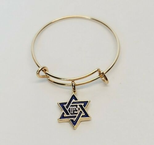 Alex and Ani Star of David Charm Ring 14kt Gold over .925 Sterling Silver