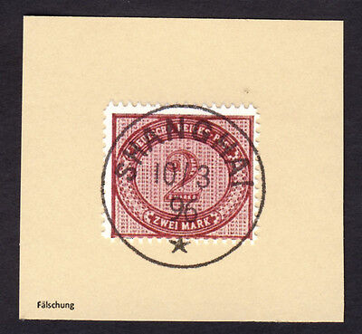 Briefstück Auslandspost China Vorläufer MiNr. V 37 o SHANGHAI 1896 Falsch