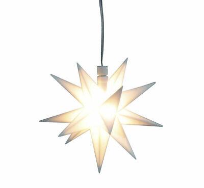 3D LED Weihnachts Stern - 12 cm - Fenster Deko Leuchtstern für Innen mit Timer