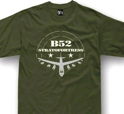 B52 T-Shirt USA Army Aircraft Stratofortress bomber B-52 tshirt + long sleeve Bomber Long Sleeve T-shirt