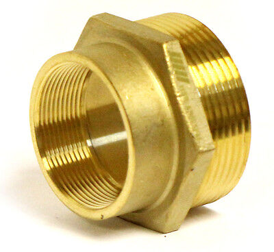 Nni Fire Hose Hydrant Hex Adapter 2 Female Npt X 2-12 Male Nst Nh Hsr-a2025fm