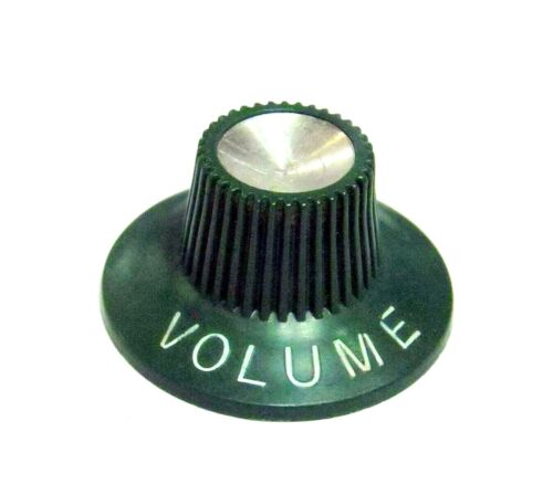 1970s Wurlitzer Volume Knob- Green Vintage Withchat D-Shaft USA