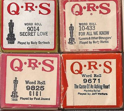 Pianola Rolls QRS x3 Academy Award songs Gigi Secret Love from Film + 1 more