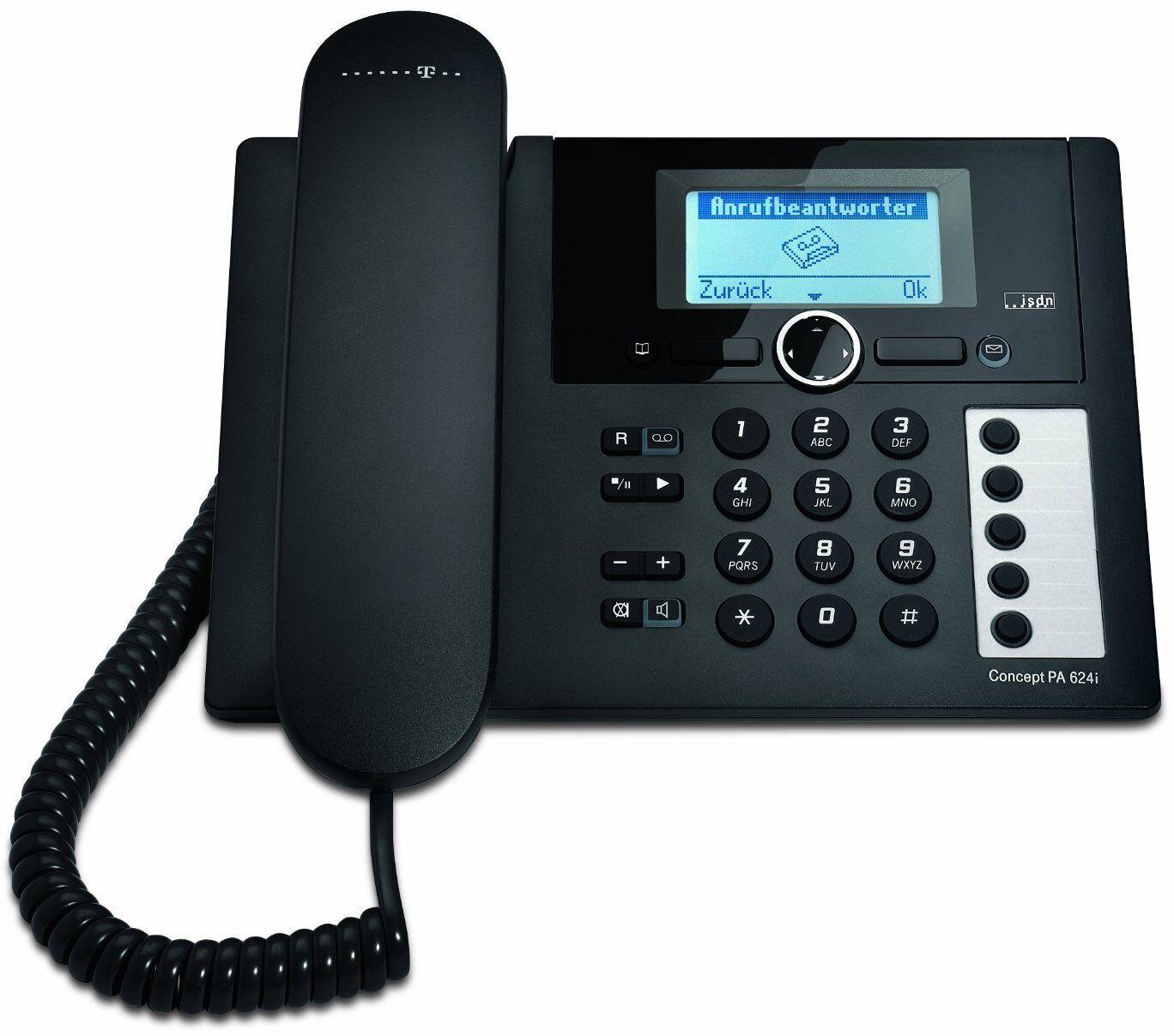 T-Concept PA624i ISDN Telefon Anrufbeantworter Tischtelefon Schnurgebundenes Tel