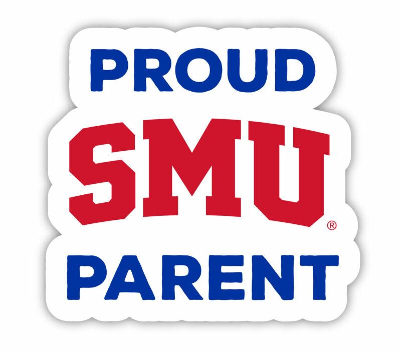 """Southern Methodist University 4"""" Laser Cut Proud Parent Decal"""