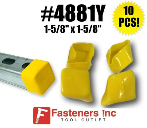 (QTY 10) Plastic Yellow End Caps Unistrut Channel Strut 1-5/8