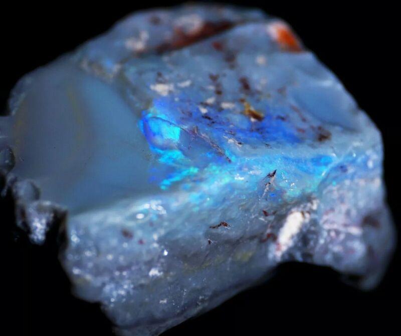 62 Carat Australian Lightning Ridge Rough Black Opal Specimen SEE VIDEO