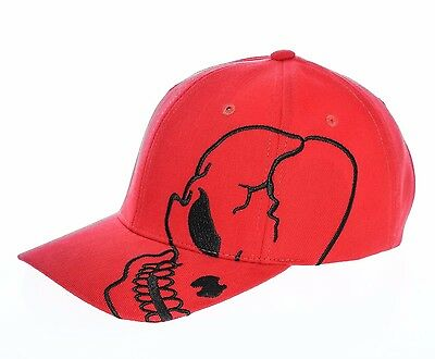 Red Skull Baseball (Red Black Skull Skateboard Biker Skeleton Motorcycle Punisher Baseball Cap Hat)