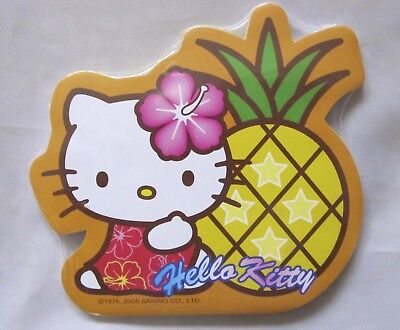 Sanrio Tropical Hello Kitty Sticky Notepad with Magnet (Pineapple)~KAWAII!!! ()