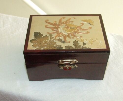 Original Chokin Art Collectible Ring Box, Gilded Gold, Silver To Copper Engraved