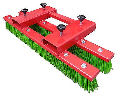 140cm Stapler Kehrbesen Staplerbesen Anbaugerät Besen für Stapler Rot NEU