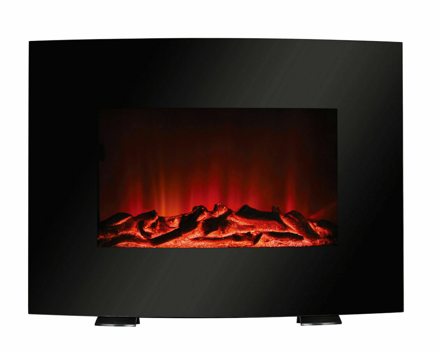 Mainstays Freestanding or Wall Mounted Fireplace Heater Blac