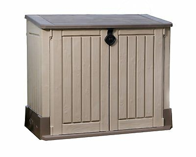 Keter Store-It-Out MIDI Outdoor Resin Horizontal Storage Shed garden pool trash