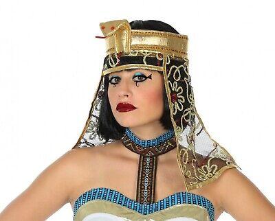 Damen Gold Ägyptische Cleopatra Kopfschmuck Kostüm Zubehör ()