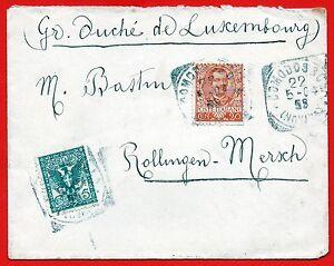 1904-Rarissima-destinazione-da-Domodossola-a-Granducato-Lussemburgo-Floreale
