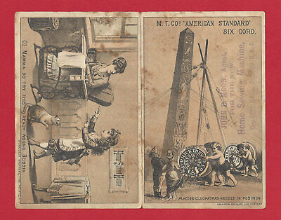 1879 Rare Donaldson Brothers Five Points NY Victorian Advertising Vtg Trade Card