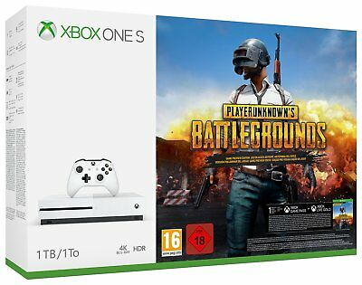 Microsoft Xbox One S 1TB Player Unknown's Battlegrounds White Console Bundle