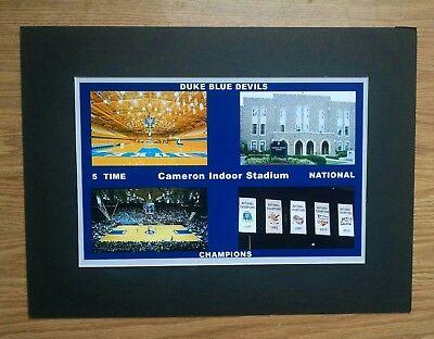 Duke University  Blue Devils Cameron Indoor Stadium matted collage photo #1 Duke Cameron Indoor Stadium