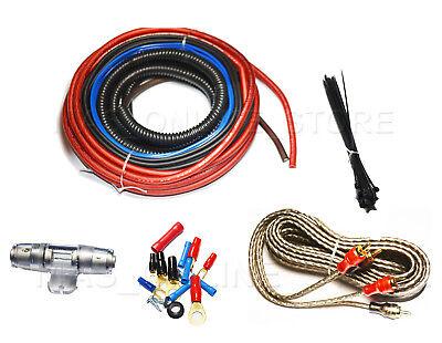 BULLZ AUDIO Car Amplifier Amp Installation Power Wiring Kit BGE8RP Car 8 GAUGE Power Amp Installation Kit