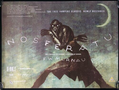 Nosferatu ORIGINAL Quad Movie Poster BFI 2013 Reissue Murnau Dracula VERY RARE