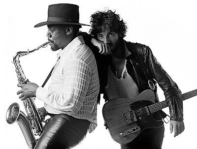BRUCE SPRINGSTEEN CLARENCE CLEMONS 8X10 GLOSSY PHOTO PICTURE