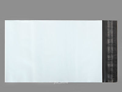 25 Poly Envelopes Mailers Pouches White Mailing Bags 8