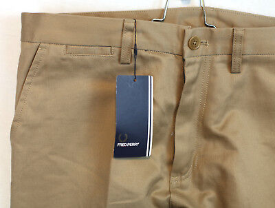 Used, Fred Perry Cotton Chino Pants Label 34R Meas 34x32 New with Tags NWT for sale  Shipping to India